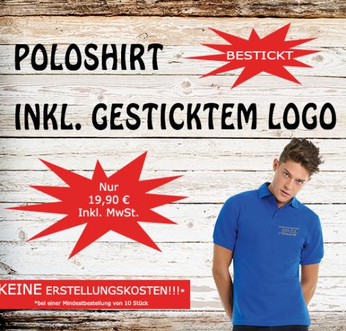 Poloshirt inkl. gesticktem Logo