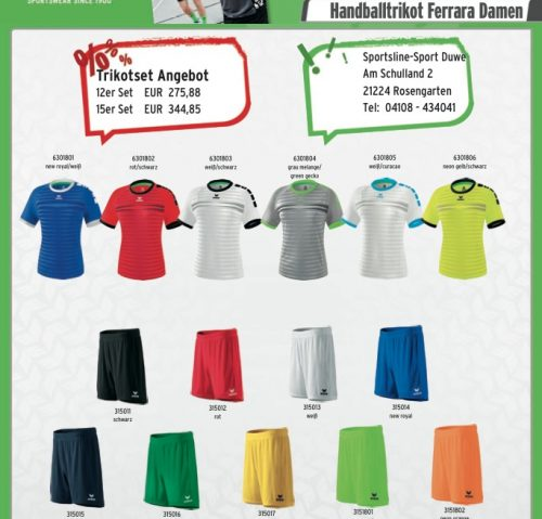 Trikotsatz Handball Angebot!